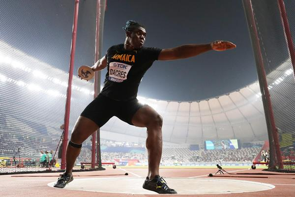Fedrick Dacres in the discus at the IAAF World Athletics Championships Doha 2019 (Getty Images)