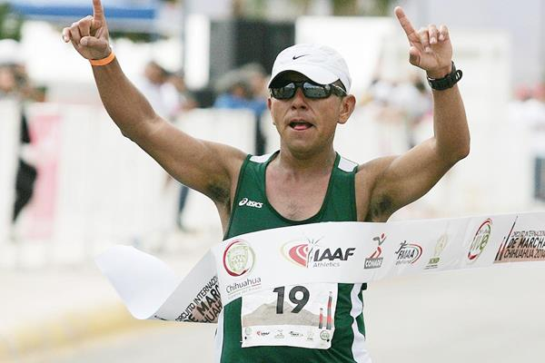 Jose Leyver Ojeda wins the 50km in Chihuahua (Organisers and Conade / Mexican Sports Institute)