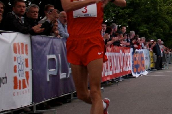China's Chu Yafei wins the Krakow 10Km (Krakow organisers)