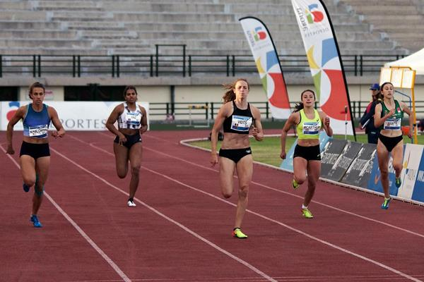 Noor Vidts in the heptathlon 200m at the IAAF Combined Events Challenge meeting in Arona (JJ Vico)