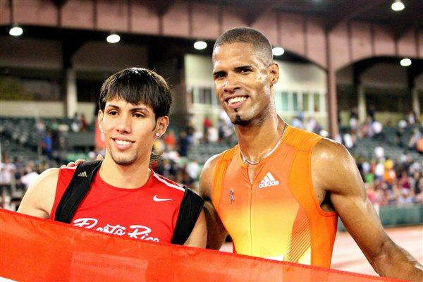 Puerto Rican junior Wesley Vazquez and Javier Culson of Puerto Rico at the 2012 Ponce GP (Fernando Neris)