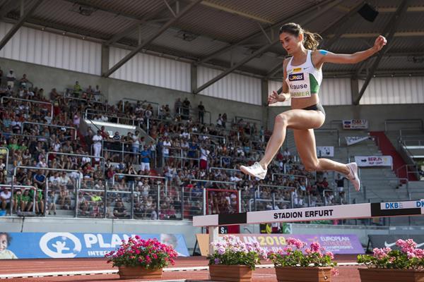 Gesa Felicitas Krause at the German Championships in Erfurt (Bongarts/Getty Images)