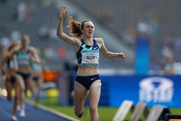 Another 1500m world lead for Laura Muir in Berlin (AFP/Getty Images)