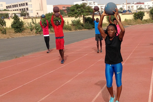 Marie Josée Ta Lou (right) training at the HPTC Dakar (HPTC Dakar)