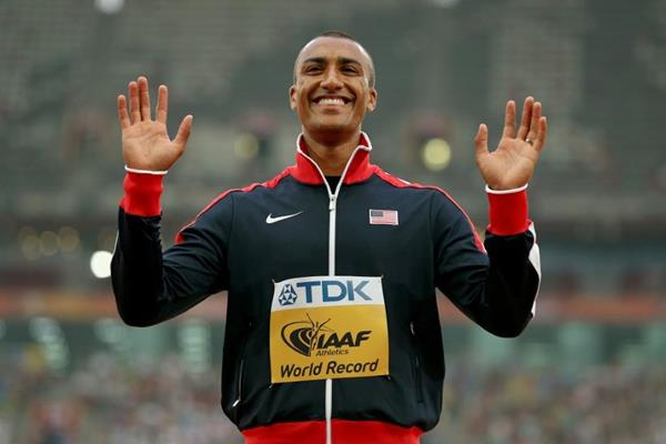 Decathlon winner Ashton Eaton at the IAAF World Championships, Beijing 2015 (Getty Images)