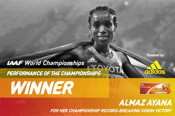 Ayana wins Performance of the Championships (Spikes)