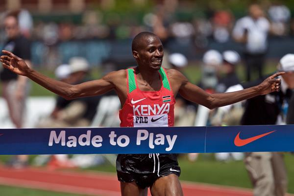 Benjamin Kigen wins the steeplechase at the IAAF Diamond League meeting in Eugene (Getty Images)