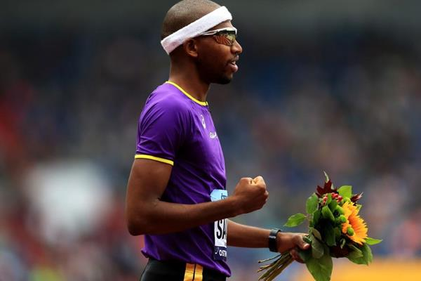 Continental Cup 400m hurdles winner Abderrahman Samba (Getty Images)