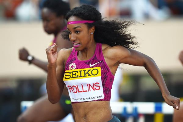 Brianna Rollins wins the 100m hurdles in Tokyo (Getty Images)