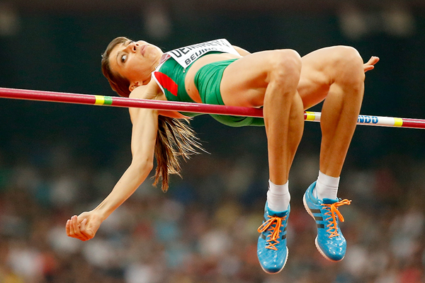 Bulgaria's Mirela Demireva in the high jump at the IAAF World Championships Beijing 2015 (Getty Images)