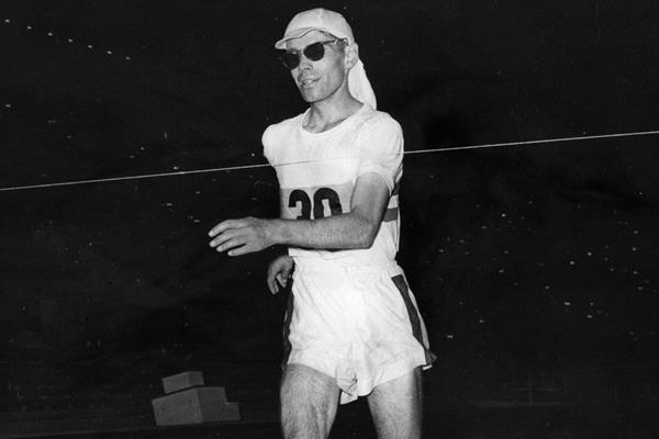 Don Thompson in the 50km race walk at the 1960 Olympic Games (Getty / Hulton)
