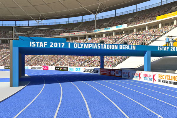 The spectator tunnel/stage at the ISTAF meeting (Organisers)