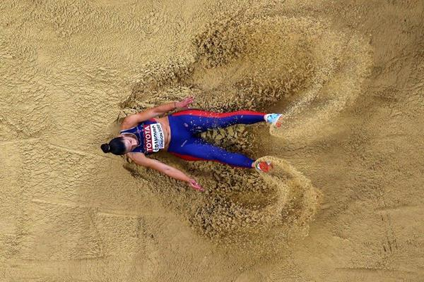 Ivana Spanovic in the long jump qualifying round at the IAAF World Championships London 2017 (Getty Images)