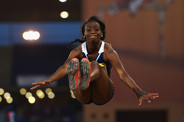 Christabel Nettey in the long jump at the IAAF Continental Cup Marrakech 2014 (Getty Images)