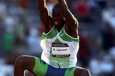 Brian Johnson takes the Long Jump win over World champion Dwight Phillips - USATF (Getty Images)