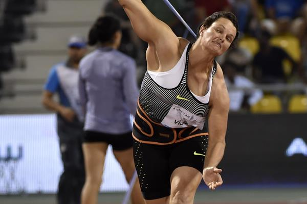 Sunette Viljoen at the 2016 IAAF Diamond League in Doha (Hasse Sjogren)