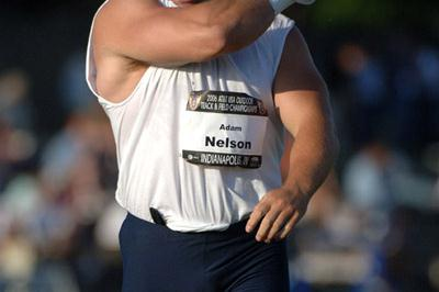 Adam Nelson getting ready - 2006 USATF Championships (Kirby Lee/Image of Sport)