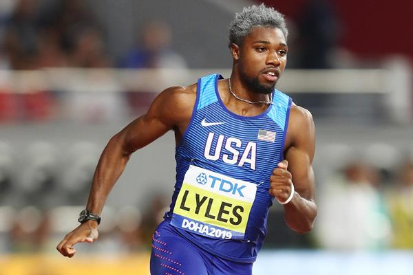 Noah Lyles at the IAAF World Athletics Championships Doha 2019 (Getty Images)