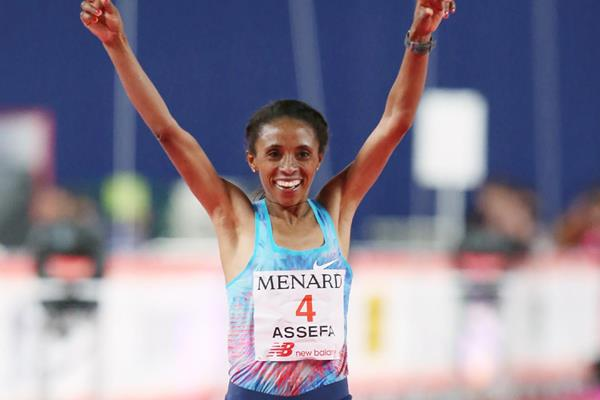 Meskerem Assefa takes the 2018 Nagoya Marathon (AFP/Getty Images)