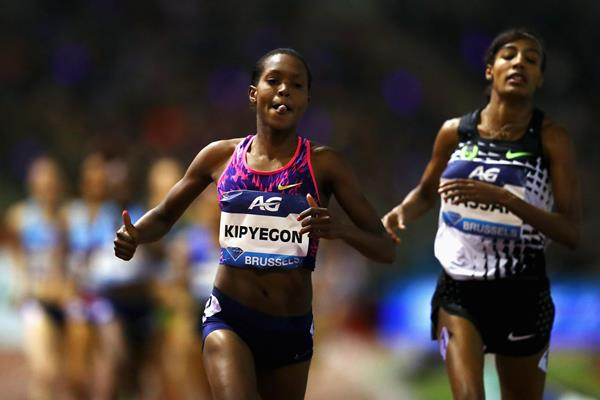 Faith Kipyegon in action at the Diamond League meeting in Brussels (Getty Images)