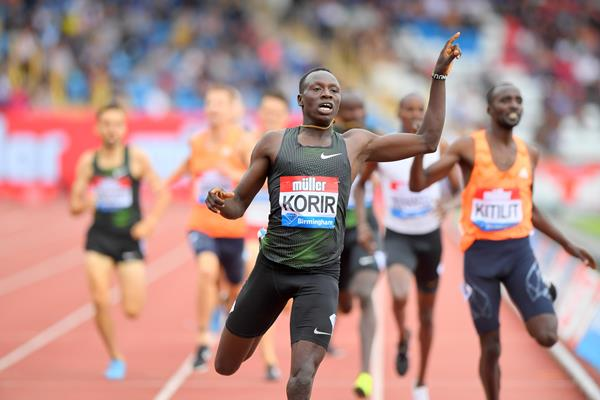 Another impressive Diamond League outing for Emmanuel Korir, this time in Birminghan (Jiro Mochizuki)