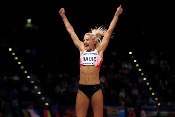 Ivona Dadic in the pentathlon at the IAAF World Indoor Championships Birmingham 2018 (Getty Images)