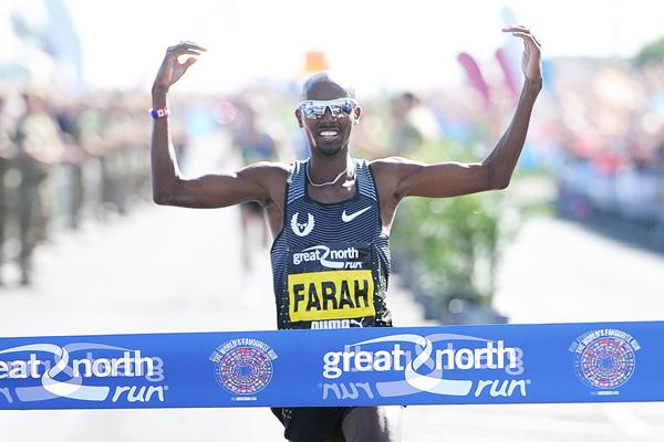 Triumphant again - Mo Farah winning the 2016 Great North Run (Mark Shearman)