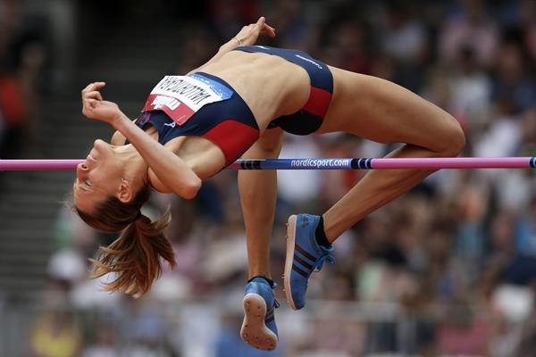 Elena Vallortigara in the high jump at the IAAF Diamond League meeting in London (Getty Images)