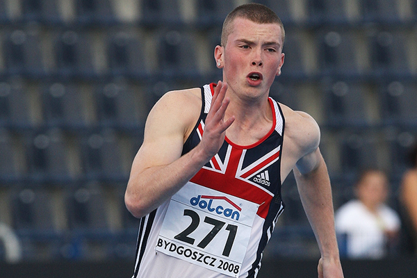 Richard Kilty in the 200m at the IAAF World Junior Championships Bydgoszcz 2008 (Getty Images)