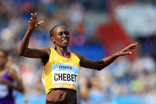 Winny Chebet takes the Continental Cup 1500m (Getty Images)