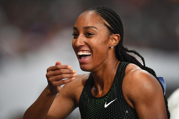 US sprint hurdler Brianna McNeal (AFP / Getty Images)