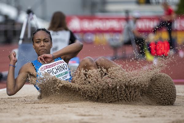 Larissa Iapichino jumps to the European U20 title in Boras, Sweden (Getty Images)