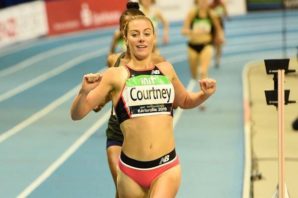 Melissa Courtney wins the Karlsruhe 3000m (Jiro Mochizuki)