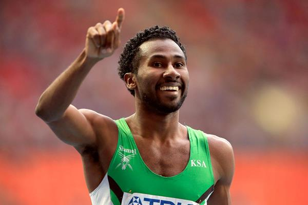 Yousef Ahmed Masrahi in the Mens 400m Semi Finals at the IAAF World Championships Moscow 2013 (Getty Images)