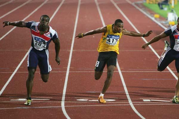 09 OCT 2012 Harry Aikines Aryeetey Of GBR Wins The Mens 100m Final At 2006