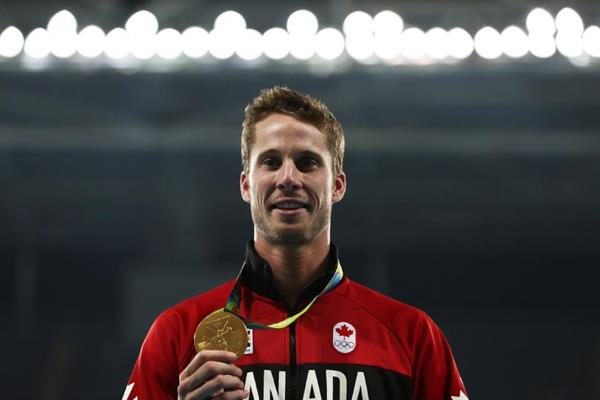 High jump winner Derek Drouin at the Rio 2016 Olympic Games (Getty Images)