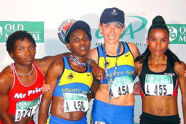 Soweto Marathon 2nd, 1st, 3rd - Dimakatso Morobi, Charne Radameyer, Louisa Leballo (Ouma)