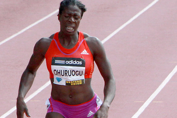 Christine Ohuruogu in the 400m at the Diamond League meeting in New York (Victah Sailer)
