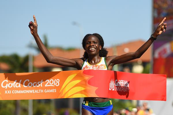Helalia Johannes wins the marathon at the Commonwealth Games (Getty Images)