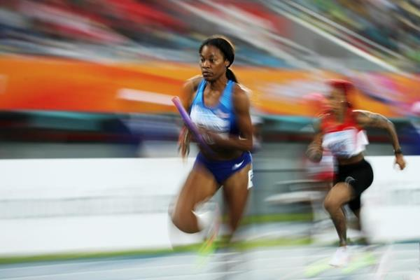 USA's Phyllis Francis in the 4x200m at the IAAF/BTC World Relays Bahamas 2017 (Getty Images)