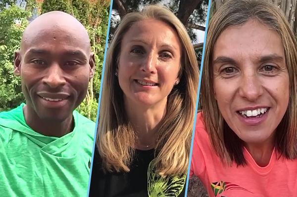 Bernard Lagat, Paula Radcliffe and Elana Meyer (IAAF)