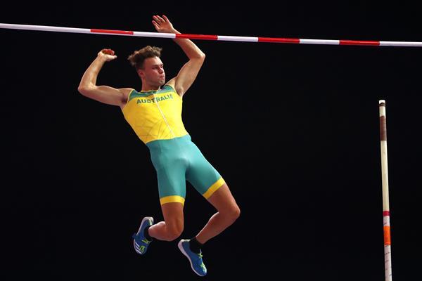 Kurtis Marschall in the pole vault at the IAAF World Indoor Championships Birmingham 2018 (Getty Images)