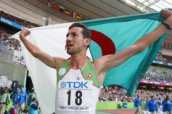 Djabir Said Guerni of Algeria celebrates winning gold in the 800m (Getty Images)