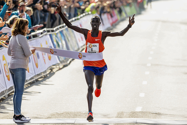 Marius Kipserem wins the Rotterdam Marathon (AFP / Getty Images)