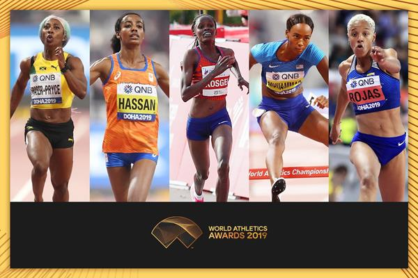 The finalists for the Female World Athlete of the Year 2019 (AFP / Getty Images)