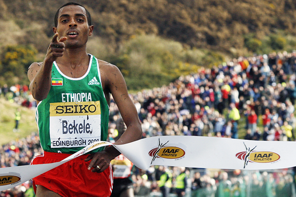 Kenenisa Bekele caps an Ethiopian sweep in Edinburgh at the 2008 IAAF World Cross Country Championships (AFP / Getty Images)