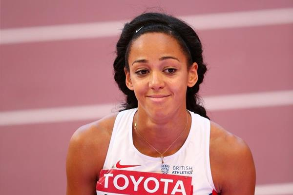 Katarina Johnson-Thompson during the heptathlon high jump at the IAAF World Championships, Beijing 2015 (Getty Images)