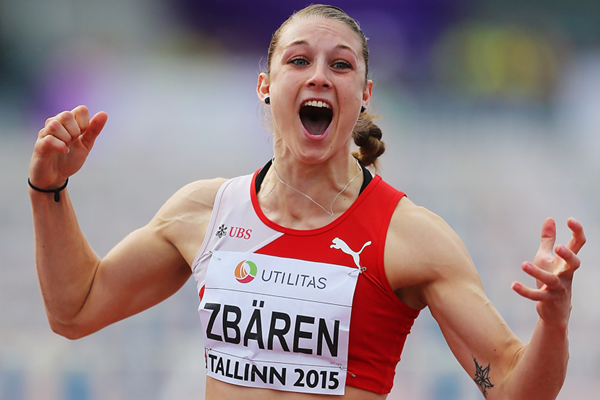 Noemi Zbaren wins the 100m hurdles at the European Under-23 Championships in Tallinn (Getty Images)