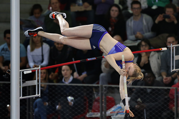 Finland's Wilma Murto in the pole vault (AFP / Getty Images)