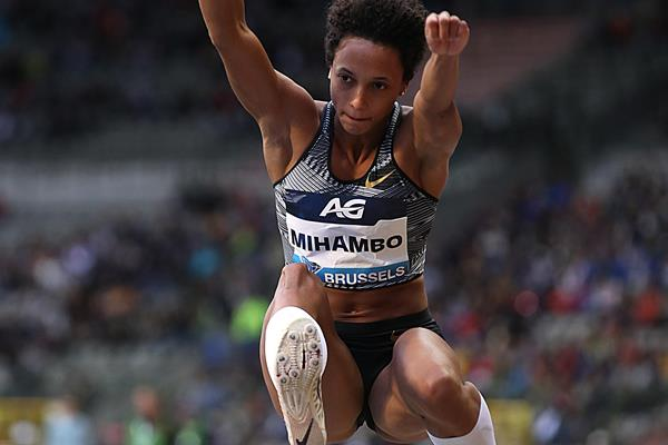 Malaika Mihambo sailing to victory in Brussels (Giancarlo Colombo)